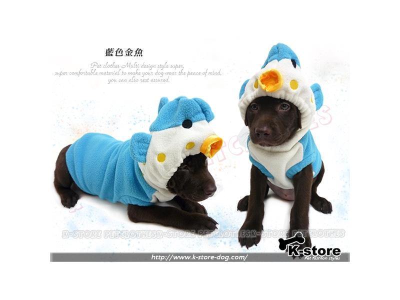 K-store寵物衣服批發【藍色金魚】提供貓狗衣服、狗包、狗窩、狗床、寵物用品、狗屋、項圈