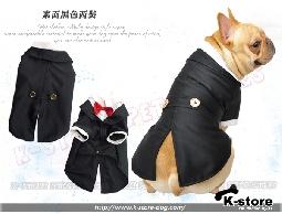 K-store寵物衣服批發【素面黑色西裝】提供貓狗衣服、狗包、狗窩、狗床、寵物用品、狗屋、