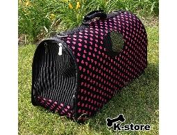 K-store寵物衣服批發【愛心粉寵物手提籠】專賣寵物衣服、狗包、項圈、領結、寵物玩具