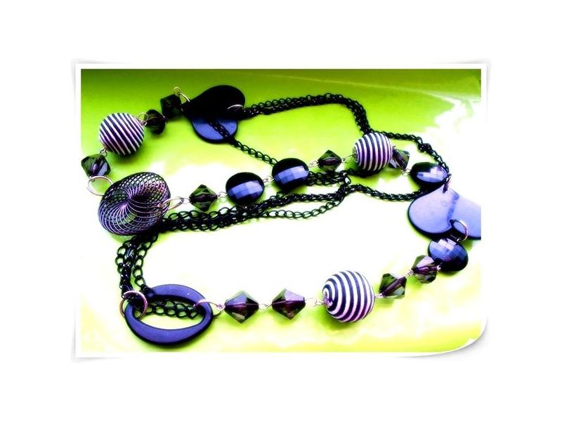 森夏   Sunshine* 幾何項鍊 & 紫色花漾 項鍊 可搭洋裝 棉T