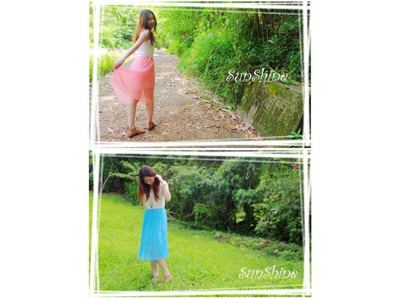森夏∥Sunshine✿【S30003】蕾絲拼接雪紡百摺背心洋裝✿二色