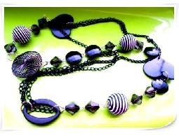 森夏|| Sunshine* 幾何項鍊 & 紫色花漾 項鍊 可搭洋裝 棉T