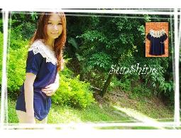 森夏|| Sunshine【S1008】鏤空花網蝙蝠袖 實搭 素面上衣✿寶藍《現貨》