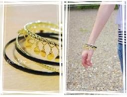 森夏|| Sunshine*韓國時尚 ~ 金色片片閃耀多層時尚手環《現貨》
