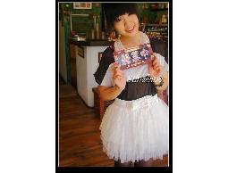 森夏∥Sunshine✿超萌系套裝組~ 雪紡珍珠領 + 黑白裸視條紋T + 甜美蝴蝶結蓬蓬