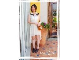 森夏∥Sunshine✿【S30002】翻領蕾絲不規則下襬氣質款雪紡洋裝✿米白