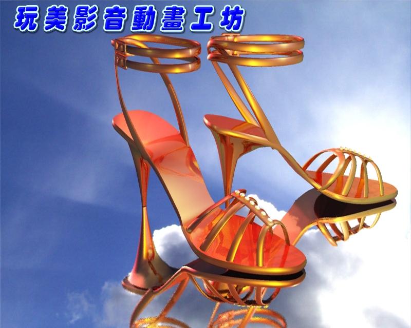 3D模型-工業產品-高跟鞋設計