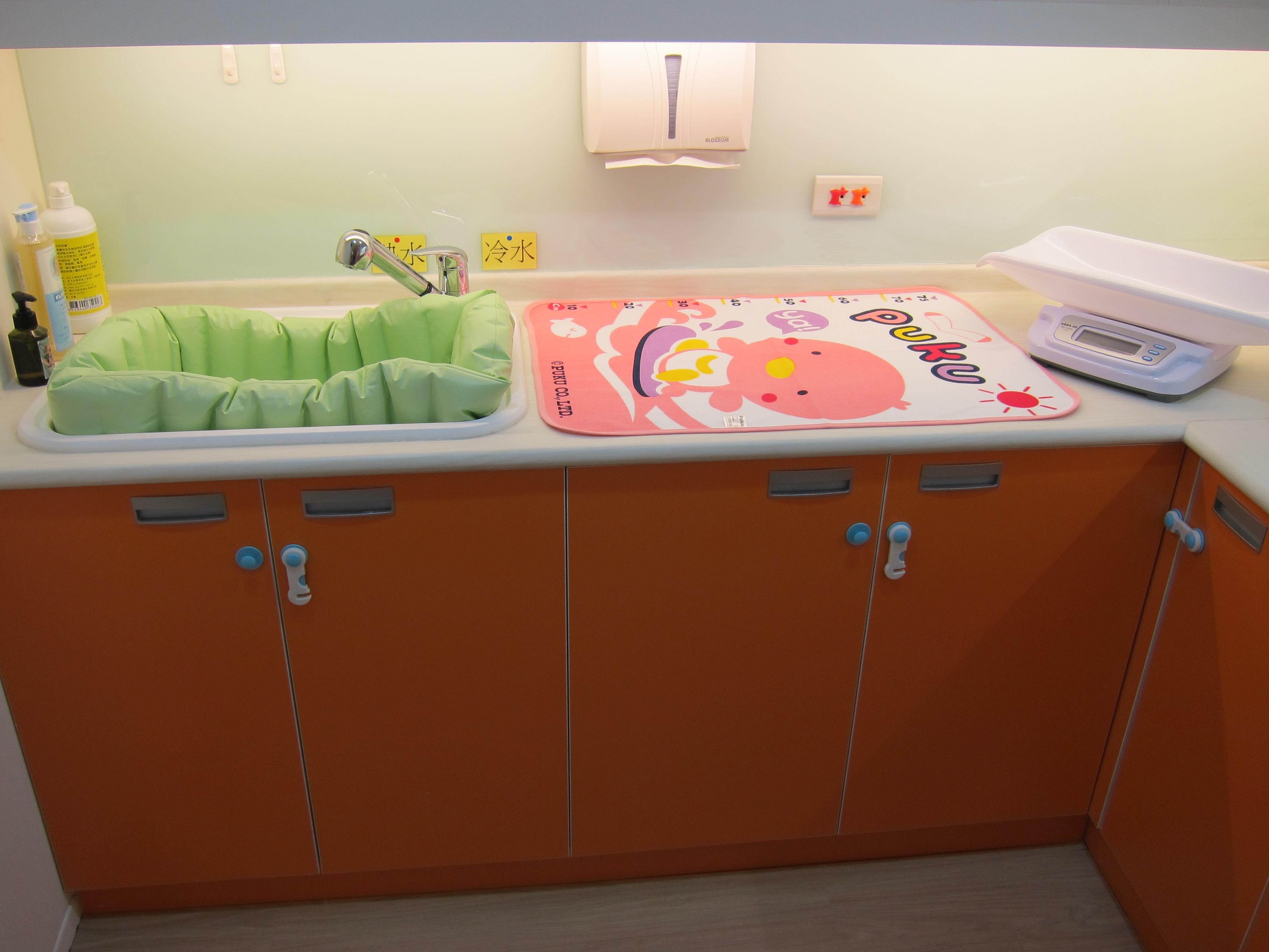 舒適安全的沐浴台