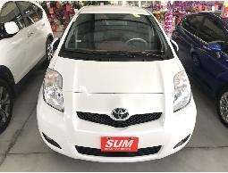 三隻小豬車坊  實車實價  2012年 豐田  YARIS  白色  黑內裝 1.5L