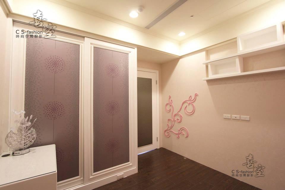 陸江當代-粉紅藝術延伸牆面甜美女孩房