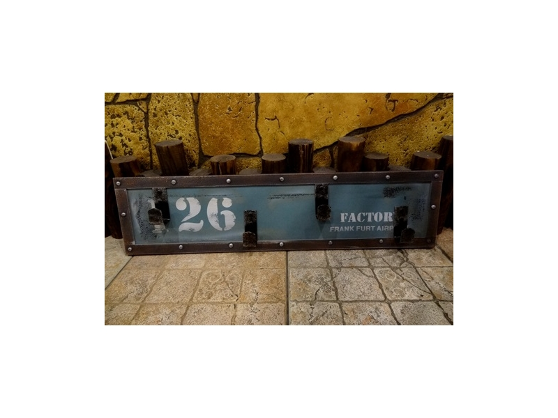 Bunny House~美式仿舊4掛勾(藍)–911–EW018B(掛勾.衣架.杯架.懷舊