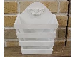 Bunny House~天使壁掛置物架–911–EW004(天使.白色.壁架.花器.筆筒