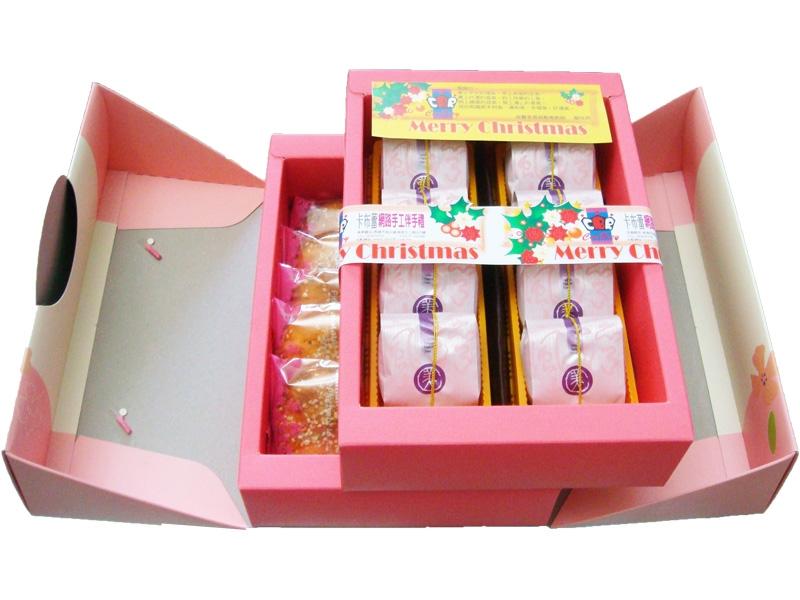 雙層雙拼禮盒 採用海藻糖製作酥而不膩