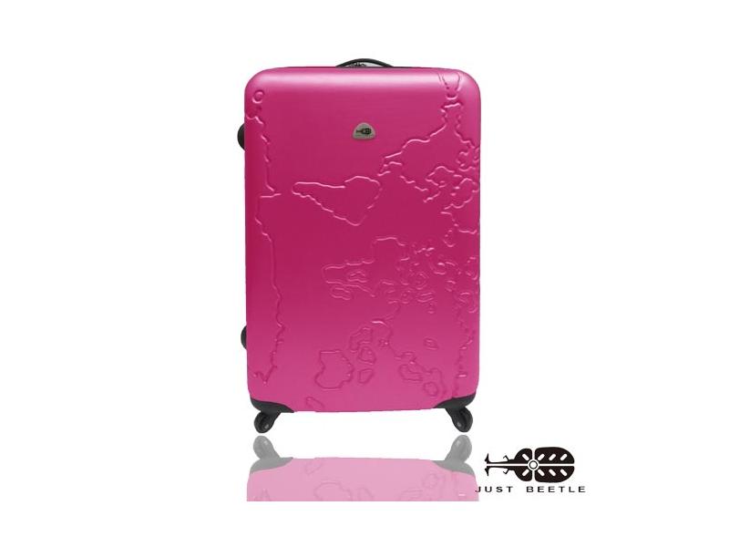 JUSTBEETLE地圖系列ABS輕硬殼旅行箱行李箱拉桿箱登機箱28吋加大