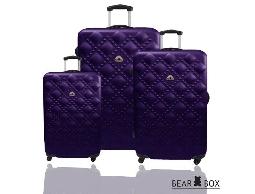 行李箱旅行箱BEAR BOX 時尚香奈兒ABS霧面登機箱拉桿箱3件組