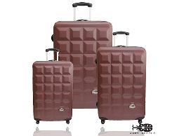 Justbeetle愛上巧克力系列ABS輕硬殼行李箱/旅行箱/拉桿箱/登機箱三件組