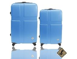 Miyoko十字英倫系列ABS輕硬殼旅行箱行李箱拉桿箱登機箱28+24兩件組