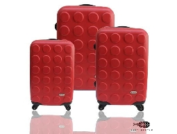 Just Beetle積木系列ABS輕硬殼行李箱旅行箱登機箱拉桿箱3件組
