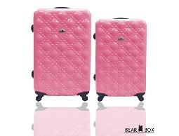 旅行箱/行李箱BEAR BOX 時尚香奈兒PC亮面輕硬殼拉桿箱登機箱28+24吋兩件組