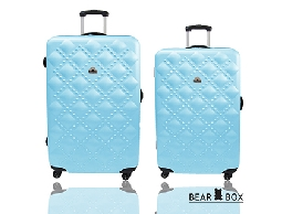 BEAR BOX時尚香奈兒系ABS霧面輕硬殼行李箱旅行箱登機箱拉桿箱兩件組24+20