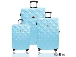 旅行箱/行李箱/BEAR BOX時尚香奈兒系ABS霧面輕硬殼登機箱/拉桿箱三件組