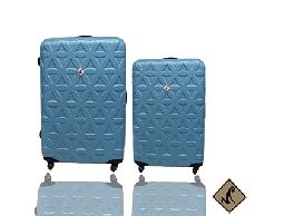 行李箱/旅行箱Miyoko時尚花系列 ABS輕硬殼拉桿箱/登機箱2件組28+20