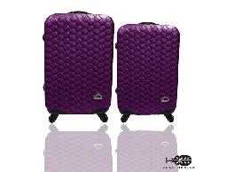行李箱 旅行箱 Just Beetle 編織風情系列ABS材質霧面輕硬殼28+24吋兩件組