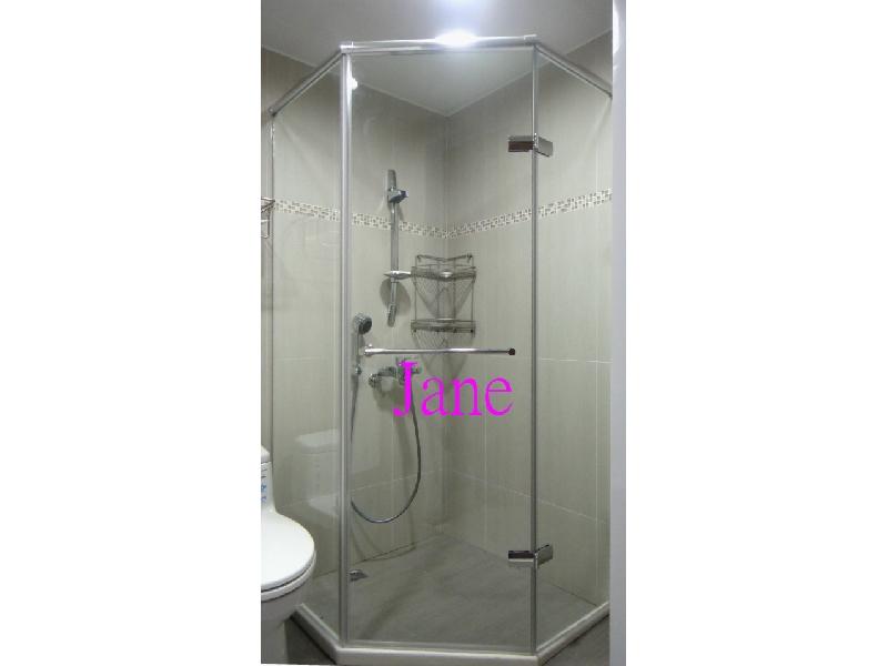 型无框淋浴门 卫浴设备 卫浴拉门 干湿分离 装修宅装潢 台湾