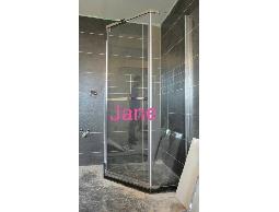 五角型簡框強化玻璃 淋浴門衛浴設備衛浴拉門乾濕分離 裝修宅裝潢 台灣製