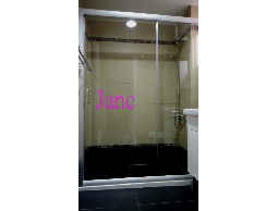 銀珠色簡框強化玻璃 淋浴門衛浴設備衛浴拉門乾濕分離 裝修宅裝潢