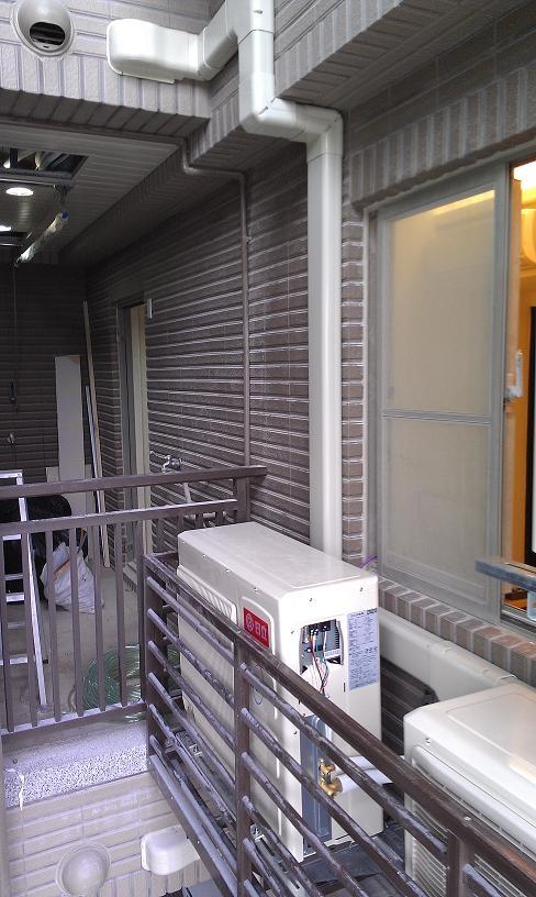 室外機管槽施工