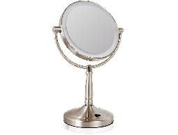 ME'COR米卡高級化妝鏡7寸led雙面 插電/電池兩用 帶燈 時尚美容 化妝鏡
