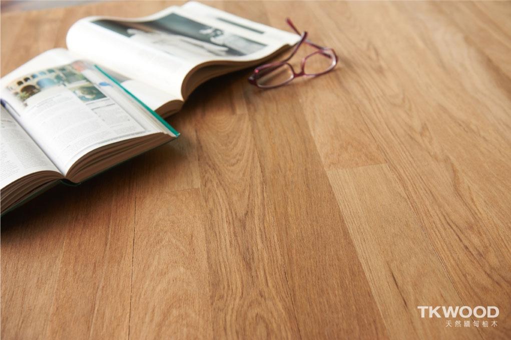 緬甸柚木平口地板