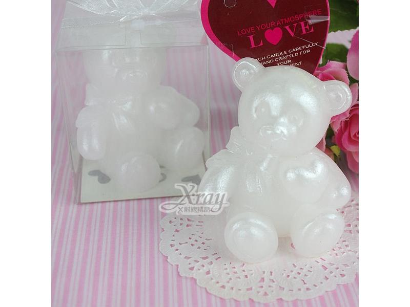 造型蠟燭婚禮小物系列-(熊快樂)