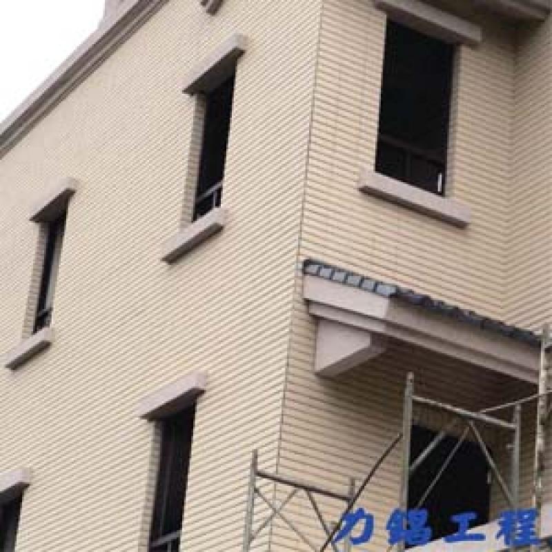 宜蘭縣縣政六街 窗框抿石工程
