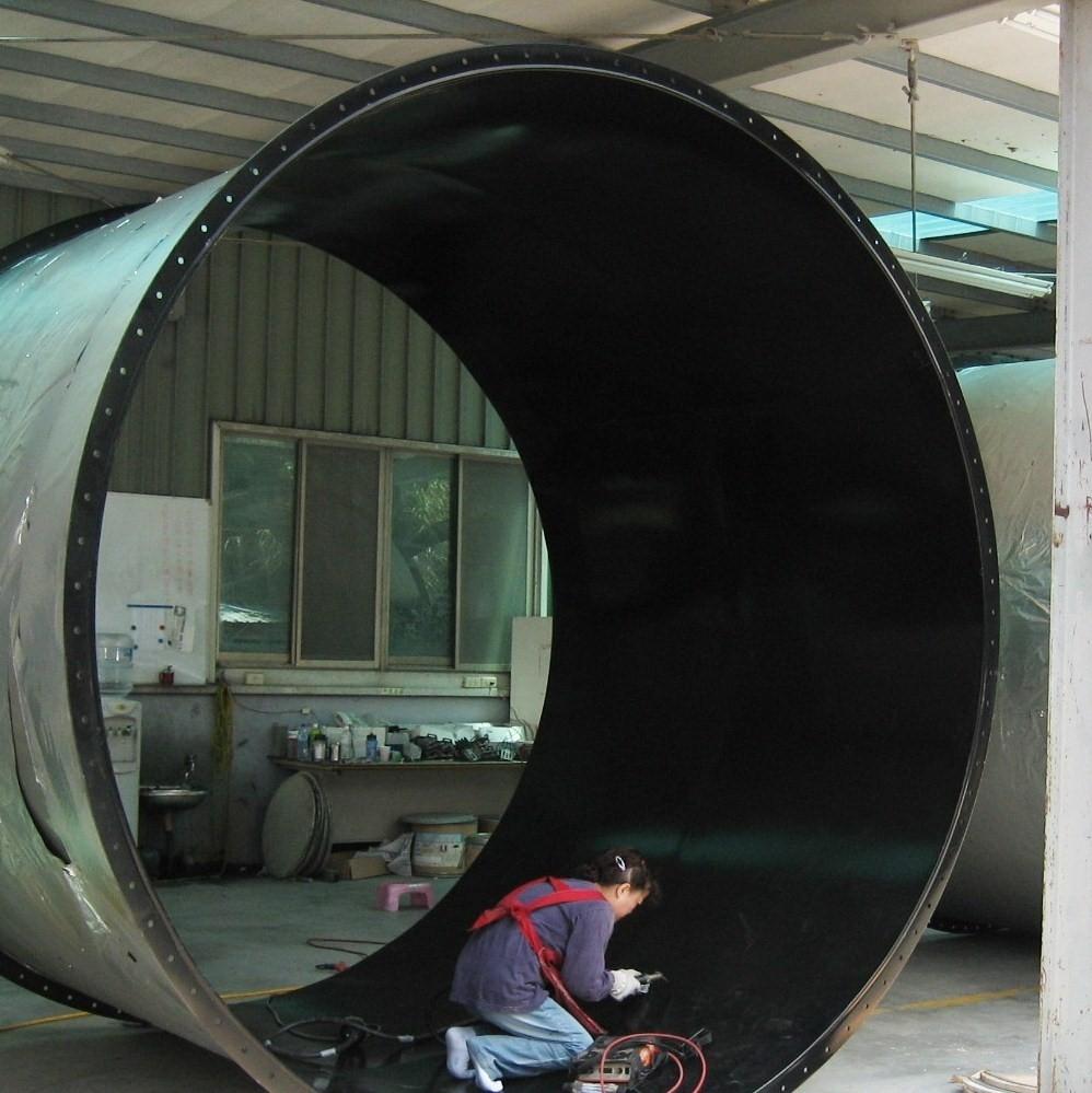 半導體排酸風管塗裝
