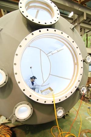 PTFE內襯不鏽鋼桶槽施工