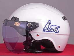 【Ecoda】時尚安全帽▲亮面白▲隨贈護目鏡片▲本島免運費【目前已全數售完,開放預訂中】