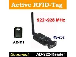 UHF主動式RFID無線識別標籤Reader及Tag產品