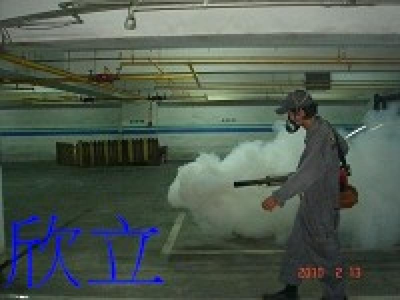 地下室消毒作業