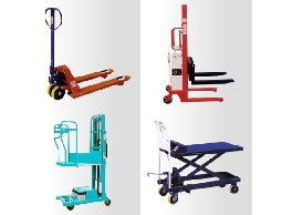 油壓拖板車 電動拖板車 電動手動堆高機 昇降平台車 平台車 昇降機 各式搬運設備