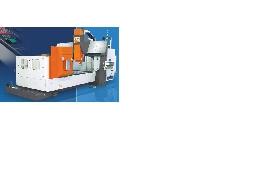 CNC铣床加工作業(龍門銑床並有第四軸)