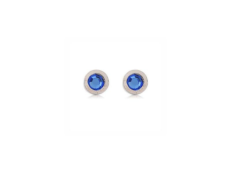 藍色單鑽魅力自信百搭耳環#017009A050004
