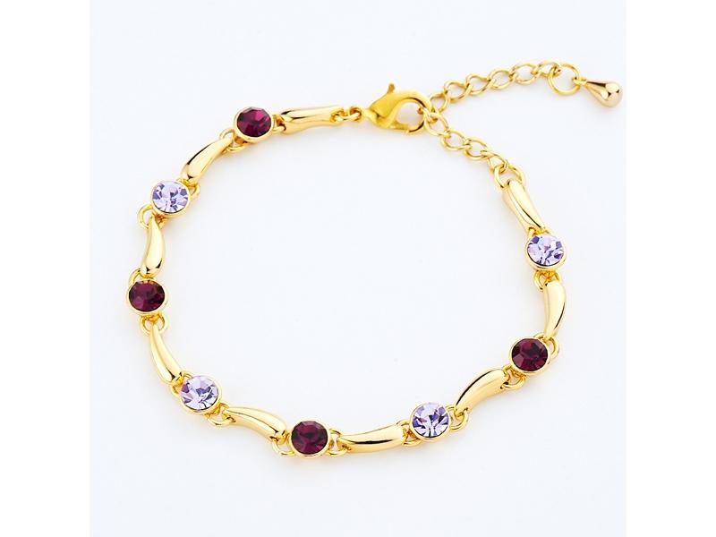 好感風雅紫色水鑽手鍊#026020D060001