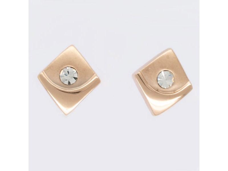 金色菱形巧思簡約耳環#017014A080009