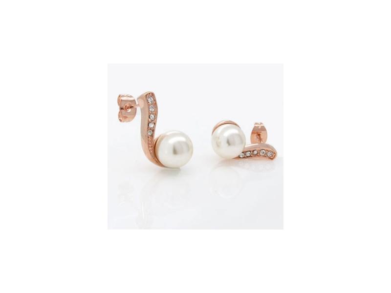 玩美名媛白色珠珠水鑽耳環#017014A070004
