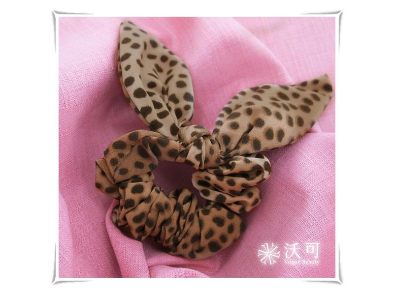 咖啡色豹紋魔幻性感髮束#015009C020006