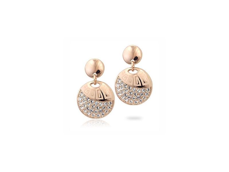 超夯人氣限量款獨特花紋金色水鑽耳環#017009A080023