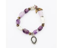 獨品民族風紫彩石手環#029019D060001