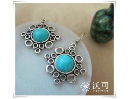 摩洛哥藍石耳環#008002A050003